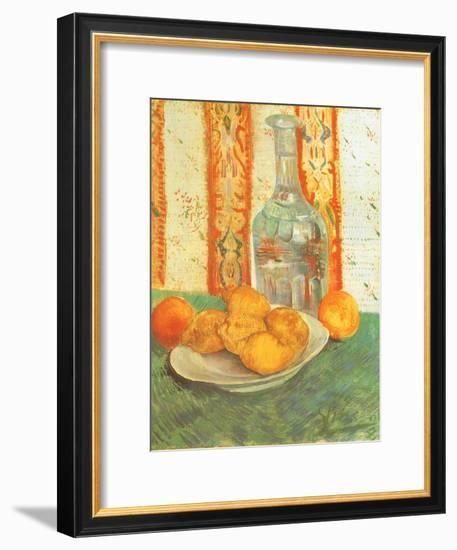 Lemons and Decanter, 1887-Vincent van Gogh-Framed Premium Giclee Print