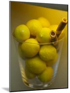 Lemons on Display in Italian Gelateria, Florence, Italy