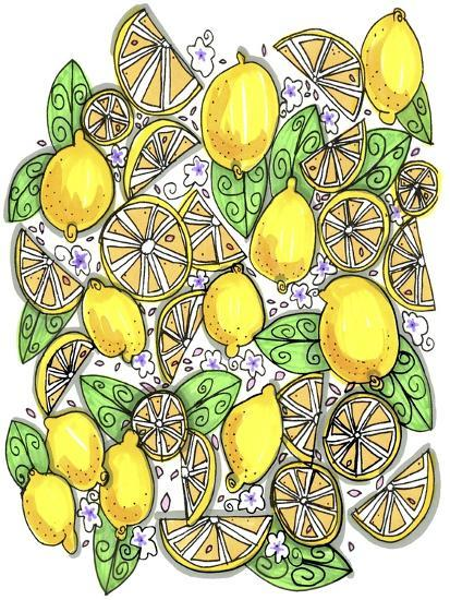 Lemons Original-Cyndi Lou-Giclee Print