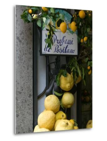 Lemons, Positano, Amalfi Coast, Campania, Italy-Walter Bibikow-Metal Print
