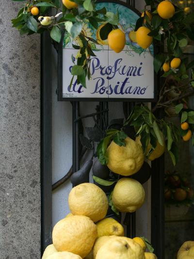 Lemons, Positano, Amalfi Coast, Campania, Italy-Walter Bibikow-Premium Photographic Print