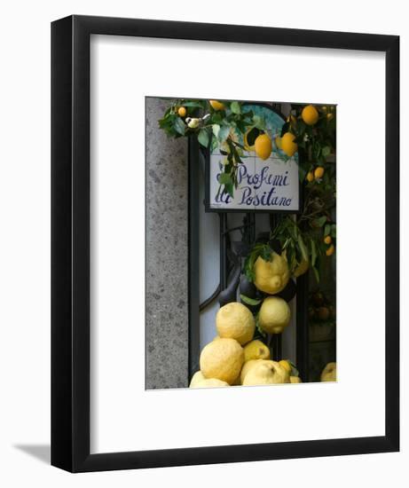 Lemons, Positano, Amalfi Coast, Campania, Italy-Walter Bibikow-Framed Premium Photographic Print