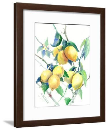 Lemons-Suren Nersisyan-Framed Art Print
