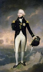Portrait of Lord Nelson with Santa Cruz Beyond by Lemuel Francis Abbott