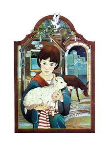 Winter Lamb - Child Life by Len Ebert