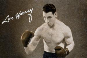Len Harvey, Light Heavy Weight Boxing Champion of Great Britain, 1935