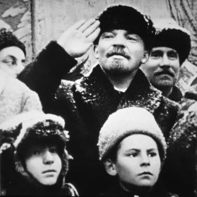 Lenin in a Crowd, 1918--Photographic Print