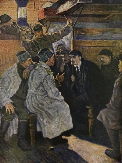Lenin Returning from Abroad in 1917 on the Train from Finland--Giclee Print