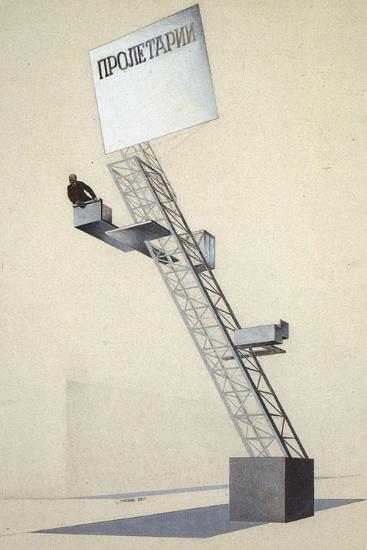 Lenin Tribune-El Lissitzky-Giclee Print