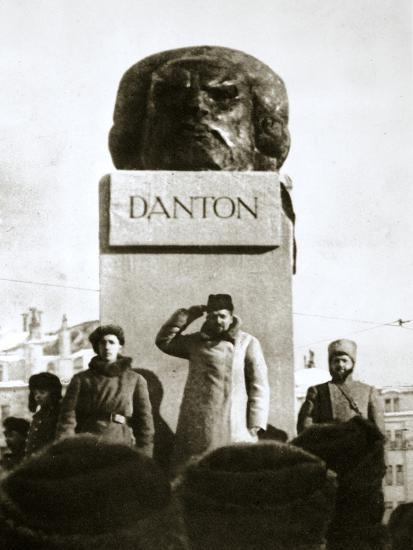 Lenin unveiling the Danton monument, Moscow, Russia, 1919-Unknown-Photographic Print