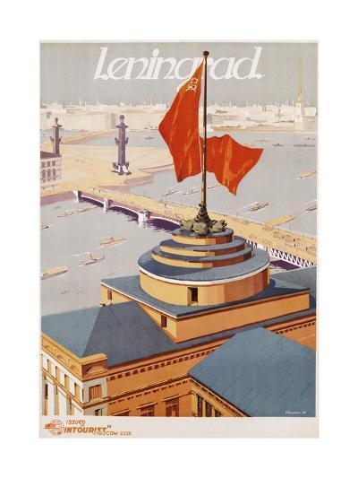 Leningrad Travel Poster-B. Zelensky-Giclee Print