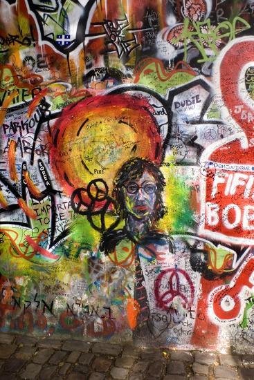 Lennon Wall, Prague-Mark Williamson-Photographic Print