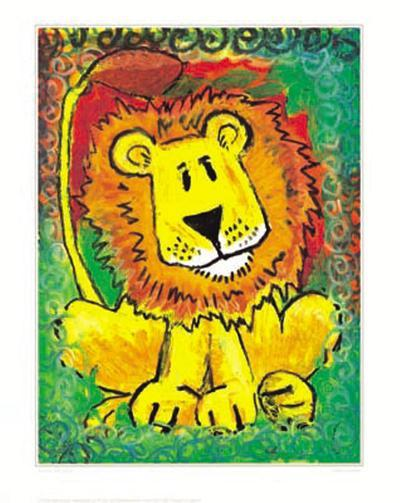 Lenny the Lion-Julia Hulme-Art Print