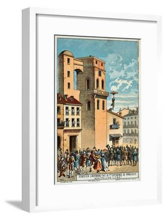 Lenormand Jumps from the Tower of the Montpellier Observatory, 1783, 19th Century