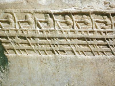 Lenormant Relief, Work Depicting Triremes and Oarsmen,5th Century BC, Ancient Greece--Giclee Print