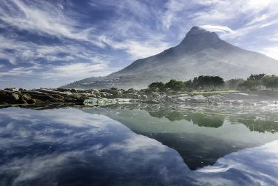Lenticular Cloud Above Lion's Head on Signal Hill Reflected in Ocean, Camp's Bay, Cape Town-Kimberly Walker-Photographic Print