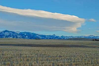 Lenticular Clouds Hover over the Bridger Mountains and Harvested Wheat Fields, Montana-Gordon Wiltsie-Photographic Print