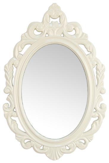 Leo Baroque Mirror - White--Wall Mirror