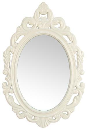 Leo Baroque Mirror - White