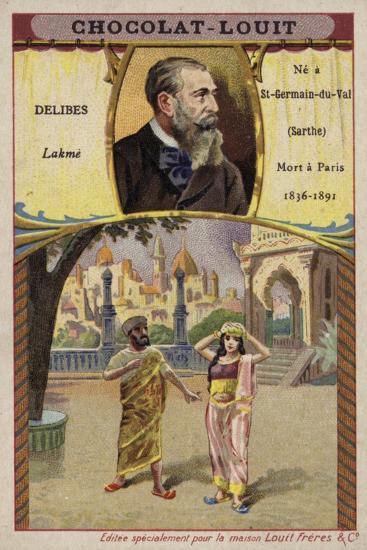 Leo Delibes, French Composer, and a Scene from His Opera Lakme--Giclee Print