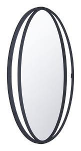 Leo Oval Mirror Black
