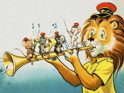 Leo the Friendly Lion-Virginio Livraghi-Giclee Print
