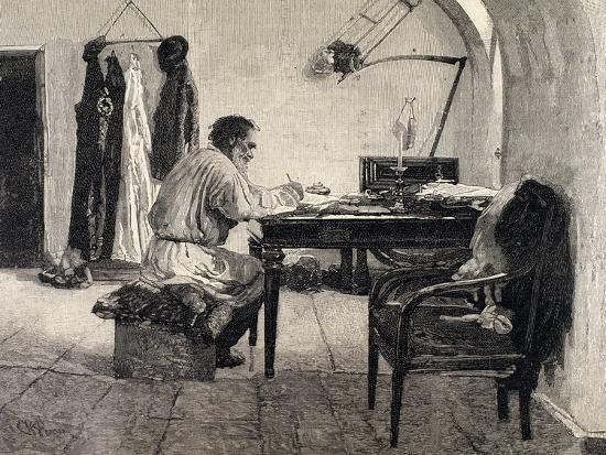 Leo Tolstoy (1828-1910). Russian Writer--Giclee Print