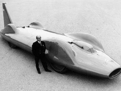 Leo Villa with the 1964 Bluebird, (C1964)--Photographic Print