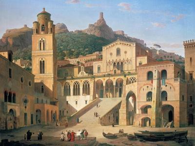 Der Domplatz Von Amalfi, 1859