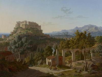 Landscape with the Castle of Massa di Carrara, 1827