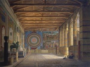 The Camposanto in Pisa, 1858 by Leo Von Klenze