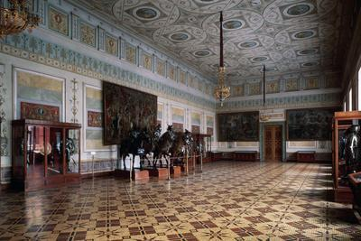 The Knight Hall (Arsena) of the Hermitage in Saint Petersburg, C19th Century