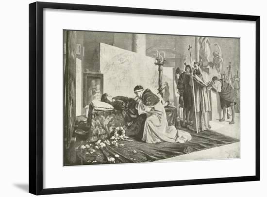 Leo X at Raphael's Bier--Framed Giclee Print