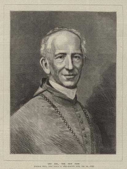 Leo XIII, the New Pope--Giclee Print