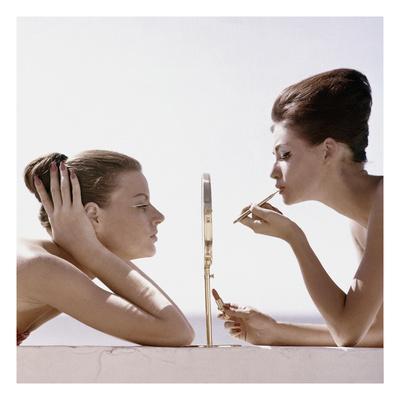 Vogue - April 1960 - Trading Beauty Secrets