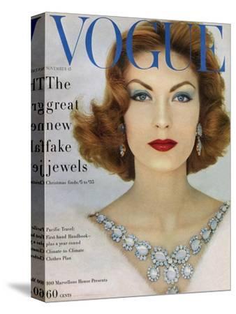 Vogue Cover - November 1957 - Blue Jewels