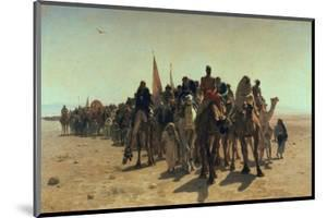 Pilgrims Going to Mecca, 1861 by Leon-Auguste-Adolphe Belly