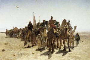 Pilgrims Going to Mecca (Pélerins Allant À La Mecque) by Leon-Auguste-Adolphe Belly