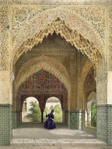 The Cabinet of the Infantas in the Room of the Two Sisters, the Alhambra, Granada, 1853 by Leon Auguste Asselineau