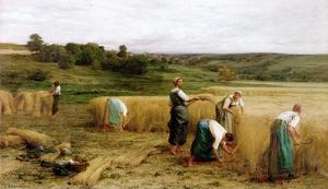 Harvest, 1874 by Léon Augustin L'hermitte