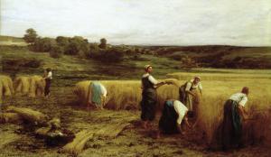 Harvest Time by Léon Augustin L'hermitte