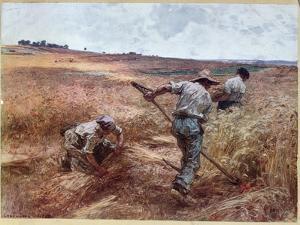 Harvesting Scene, 1897 by Léon Augustin L'hermitte
