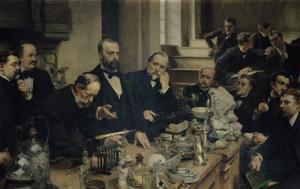 Henri Sainte-Claire Deville (1818-81) Lecturing, 1890 by Léon Augustin L'hermitte