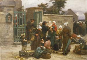 La Pardon de Plourin, Brittany by Léon Augustin L'hermitte