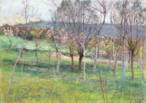 Landscape in Northern France, C.1892 by Léon Augustin L'hermitte