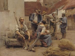 Paying the Harvesters, 1882 by Léon Augustin L'hermitte
