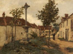 Rue, Mont-Saint-Père, France by Léon Augustin L'hermitte