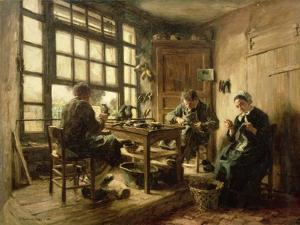 The Cobblers, 1880 by Léon Augustin L'hermitte