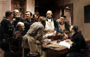 The Lesson of Claude Bernard (1813-78) Or, Session at the Vivisection Laboratory, 1889 by Léon Augustin L'hermitte