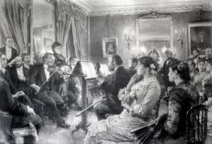 The Quartet or the Musical Evening at the House of Amaury Duval, 1881 by Léon Augustin L'hermitte